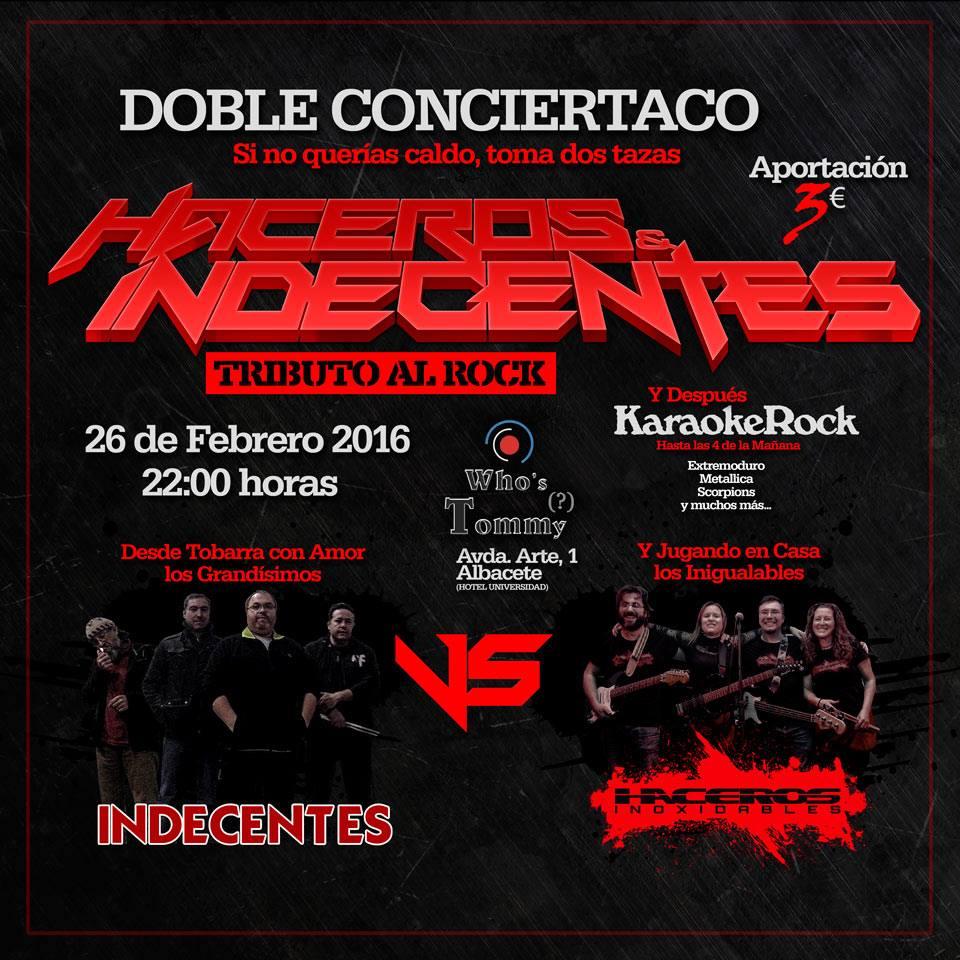 Haceros & Indecentes - Febrero 2016