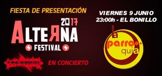 """Los Haceros en la Presentación del Alterna 2017 - en """"La Parroquia"""" de El Bonillo"""